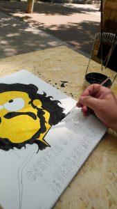 Pintando un cuadro